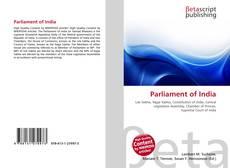 Portada del libro de Parliament of India
