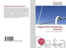 Rugby Union Numbering Schemes kitap kapağı