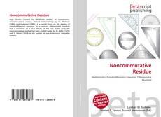Buchcover von Noncommutative Residue