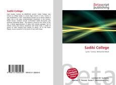Bookcover of Sadiki College