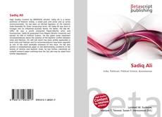 Capa do livro de Sadiq Ali