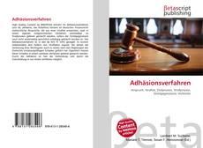 Bookcover of Adhäsionsverfahren