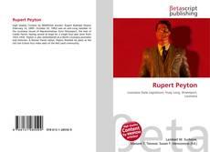 Portada del libro de Rupert Peyton