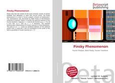 Bookcover of Pinsky Phenomenon