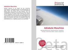Bookcover of Adiabate Maschine