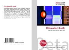 Capa do livro de Occupation: Foole