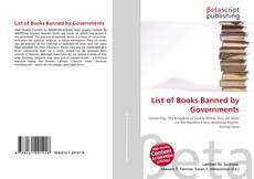 Borítókép a  List of Books Banned by Governments - hoz