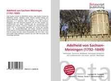 Capa do livro de Adelheid von Sachsen-Meiningen (1792–1849)