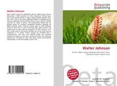 Bookcover of Walter Johnson
