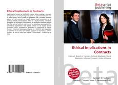Buchcover von Ethical Implications in Contracts