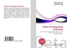 Portada del libro de Order of Integration (Calculus)