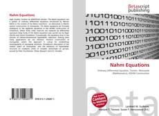 Buchcover von Nahm Equations