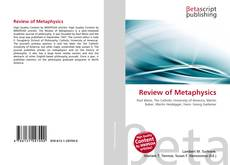 Bookcover of Review of Metaphysics