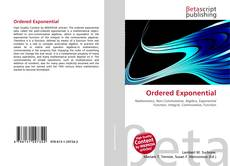 Bookcover of Ordered Exponential