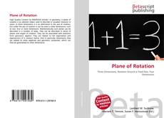 Bookcover of Plane of Rotation