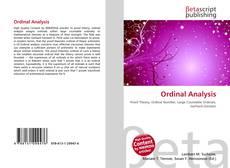 Portada del libro de Ordinal Analysis