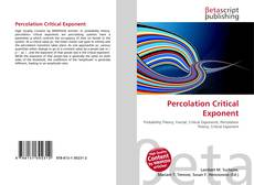 Bookcover of Percolation Critical Exponent