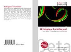 Обложка Orthogonal Complement
