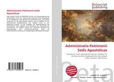 Bookcover of Administratio Patrimonii Sedis Apostolicae