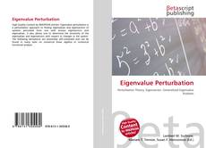 Bookcover of Eigenvalue Perturbation