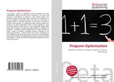 Bookcover of Program Optimization