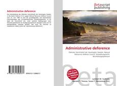 Administrative deference kitap kapağı