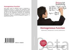 Couverture de Homogeneous Function