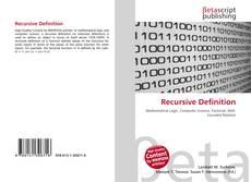 Bookcover of Recursive Definition