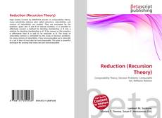 Bookcover of Reduction (Recursion Theory)