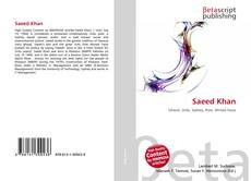 Bookcover of Saeed Khan