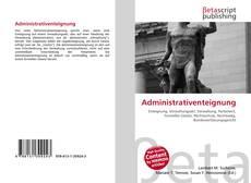Bookcover of Administrativenteignung
