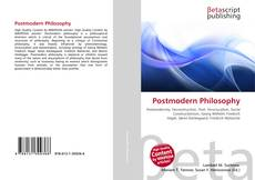 Bookcover of Postmodern Philosophy