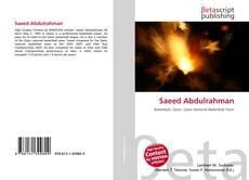 Bookcover of Saeed Abdulrahman
