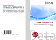 Bookcover of Saeed Ahmad Khan