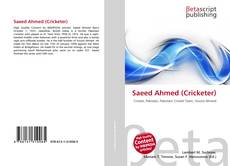 Bookcover of Saeed Ahmed (Cricketer)