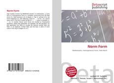 Norm Form kitap kapağı