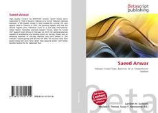 Bookcover of Saeed Anwar