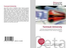 Bookcover of Yarmouk University