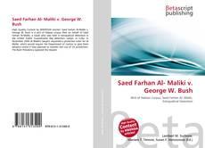 Portada del libro de Saed Farhan Al- Maliki v. George W. Bush
