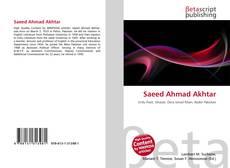 Saeed Ahmad Akhtar的封面