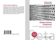 Bookcover of Unique Games Conjecture