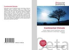 Capa do livro de Continental Climate