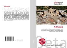 Bookcover of Admissio