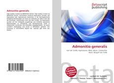 Buchcover von Admonitio generalis