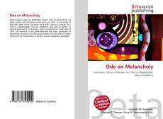 Bookcover of Ode on Melancholy