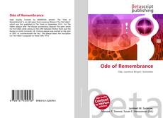 Bookcover of Ode of Remembrance