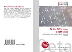 Bookcover of Finite Difference Coefficient