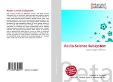Bookcover of Radio Science Subsystem