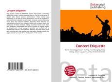 Bookcover of Concert Etiquette