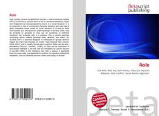 Buchcover von Role